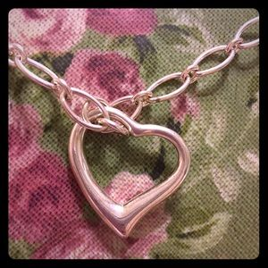 Genuine sterling silver heart 16 inch necklace